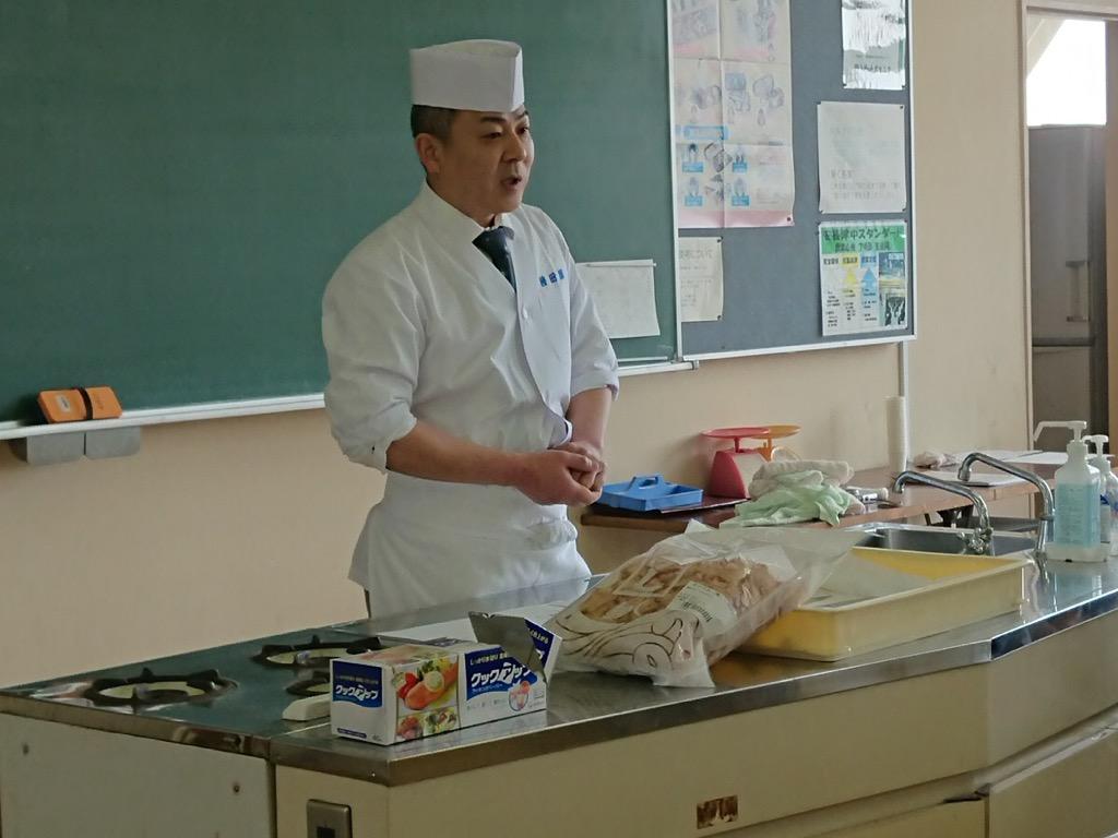 東広島市立安芸津中学校で食育授業